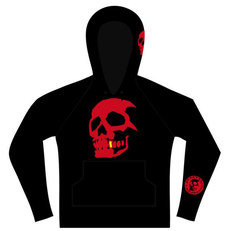 Hammerbrooklyn Girl Red Skull Hooder