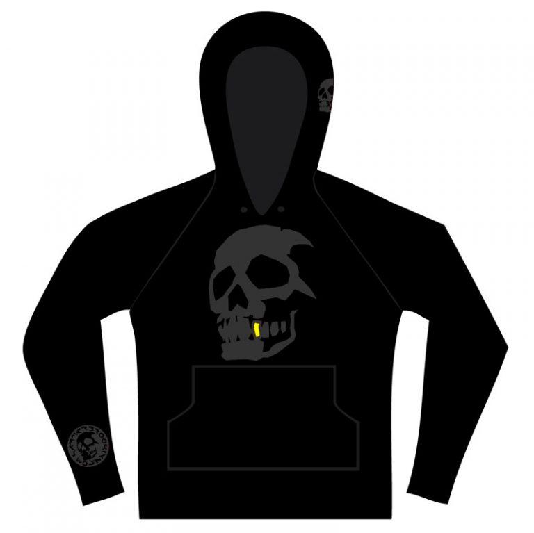 Hammerbrooklyn Boy Black Skull Hooder